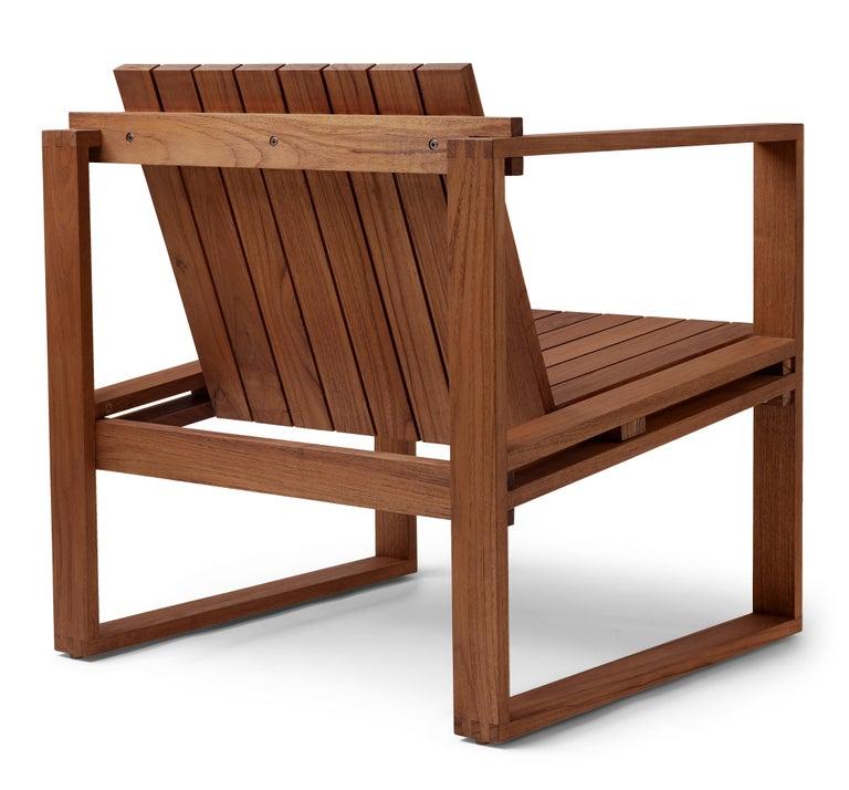 Modern Indoor-Outdoor BK11 Lounge Chair in Teak Oil by Bodil Kjær For Sale