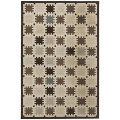 Indoor Outdoor Flat-Weave Rug with Scandinavian Design