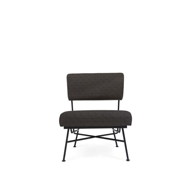 The Montrose lounge chair features a powder-coated steel frame and attached cushions that is suitable for indoor or outdoor use. The Montrose ottoman is available separately to match. For indoor or outdoor use, but not intended for use in wet