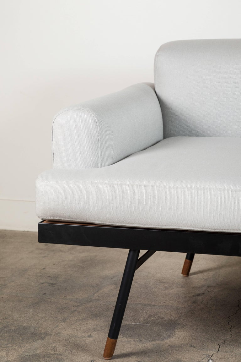 Mid-Century Modern Indoor / Outdoor Montrose Sofa with Teak Details by Lawson-Fenning For Sale