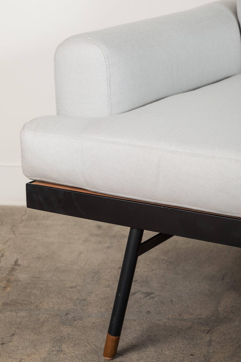 Indoor / Outdoor Montrose Sofa with Teak Details by Lawson-Fenning In New Condition For Sale In Los Angeles, CA