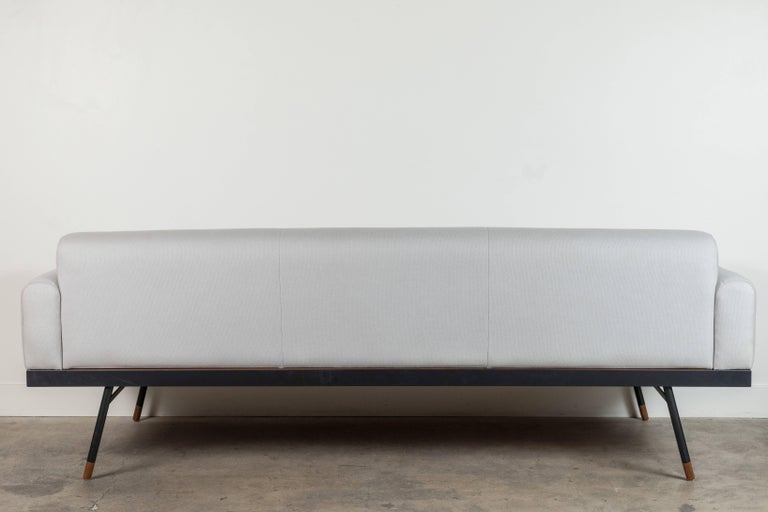 Indoor / Outdoor Montrose Sofa with Teak Details by Lawson-Fenning For Sale 1
