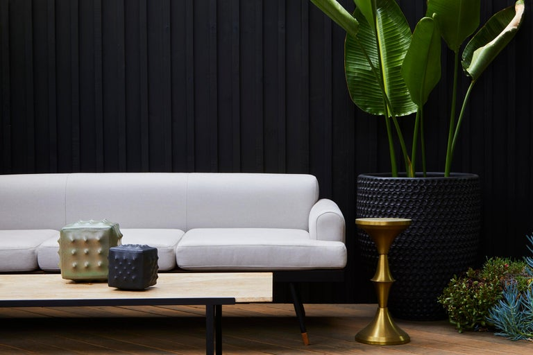 Indoor / Outdoor Montrose Sofa with Teak Details by Lawson-Fenning For Sale 2