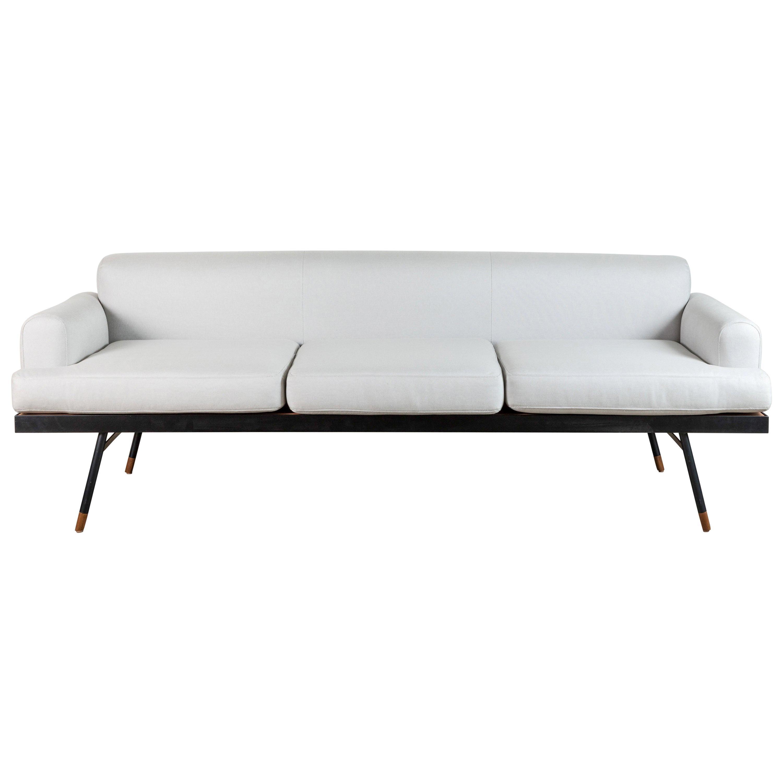 Indoor / Outdoor Montrose Sofa with Teak Details by Lawson-Fenning