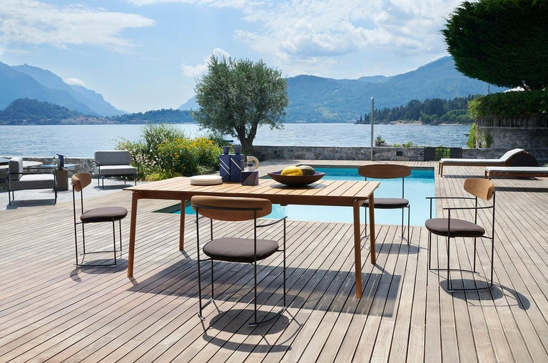Italian Indoor / Outdoor Potocco Keel Dining Armchair For Sale