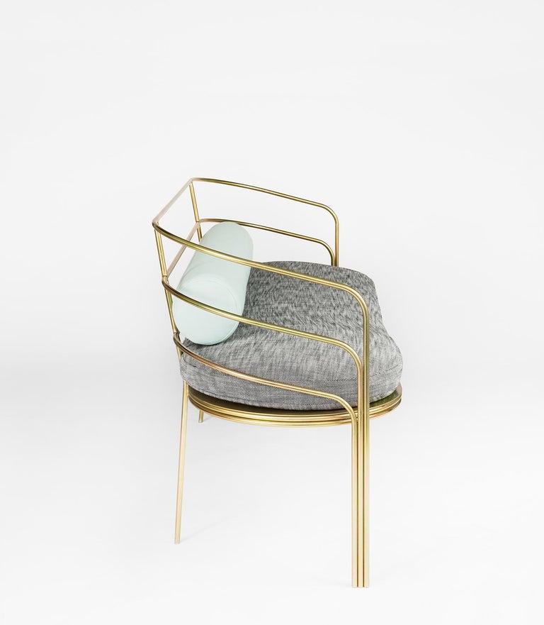 American Indoor/Outdoor Steel-Framed Sofa in Modern Regency Style by Laun Los Angeles For Sale