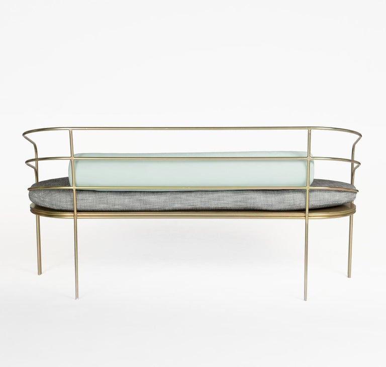 Astounding Indoor Outdoor Steel Framed Sofa In Modern Regency Style By Laun Los Angeles Ncnpc Chair Design For Home Ncnpcorg