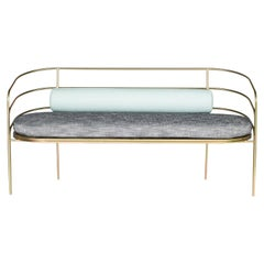 Indoor/Outdoor Steel-Framed Sofa in Modern Regency Style by Laun Los Angeles