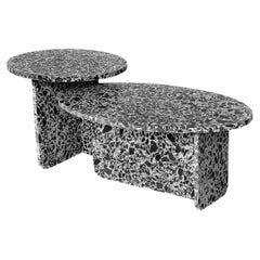 Indoor / Outdoor Terrazzo Set of 2 Nesting Tables
