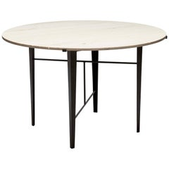 Indoor / Outdoor Travertine Montrose Dining Table by Lawson-Fenning