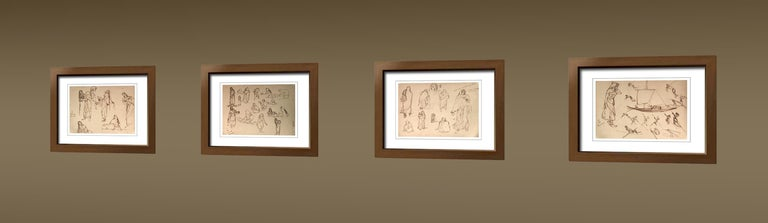 Drawings, Figurative, Ink on Paper, Two sided work by Indra Dugar