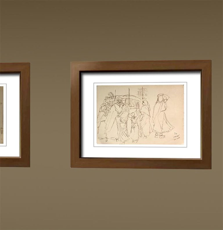 Figurative, Drawings, Ink on Paper, Two sided work by Indra Dugar