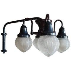 Industrial 1930s Holophane Dentist Overhead Light