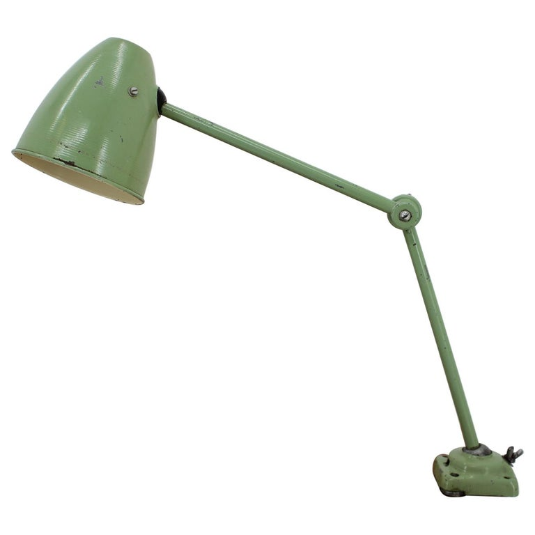 Industrial Adjustable Metal Table Lamp with Patina, 1950s For Sale