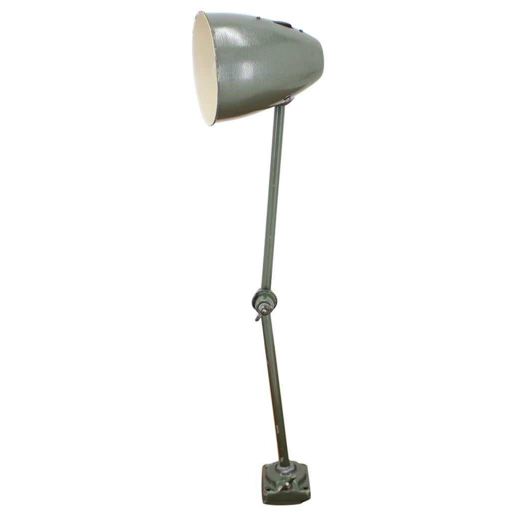 Industrial Adjustable Metal Table Lamp with Patina, 1950s