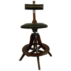 Industrial Adjustable Telephone Operator Swivel Stool