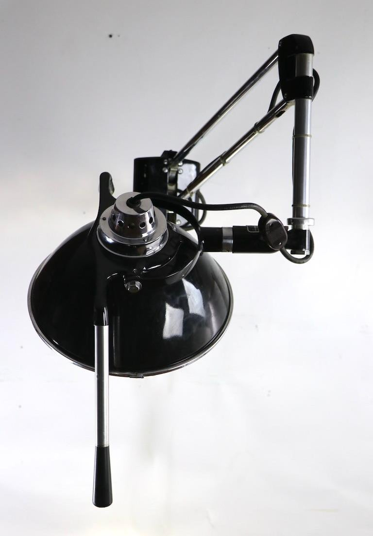 Industrial Adjustable Wall Mount Dental Light by the Wilmont Castle Co. For Sale 5