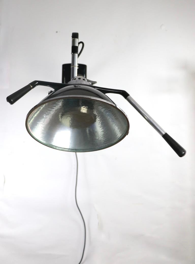 Industrial Adjustable Wall Mount Dental Light by the Wilmont Castle Co. For Sale 1