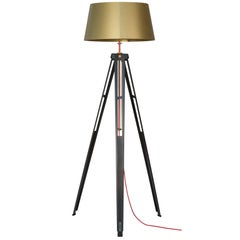 "Industrial and Contemporary Lamp in Steel and Aluminium ""Paris 301 - Tripod"""