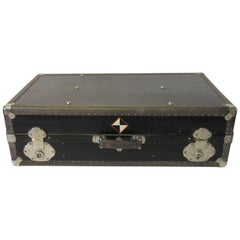Industrial Art Deco Studded Trunk Suit Case