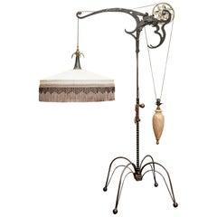 Industrial Art Form Craftsman's Floor Lamp