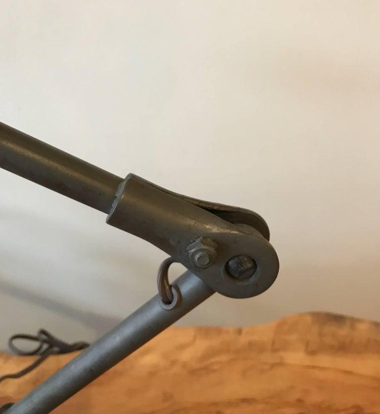 Industrial Articulating Cast Iron Task Desk Lamp For Sale 4