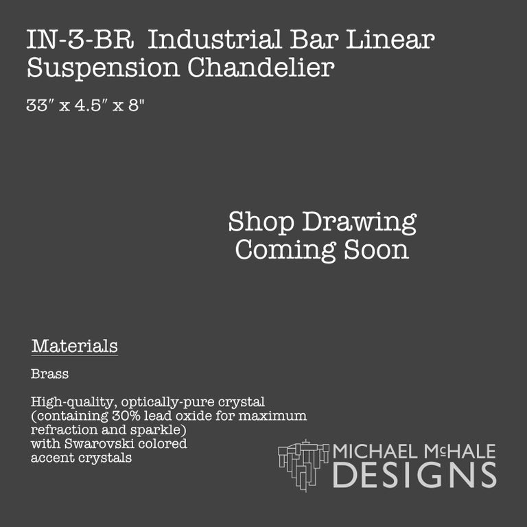 Industrial Bar Five-Light Bronze Chandelier Linear Suspension In New Condition For Sale In Long Island City, NY