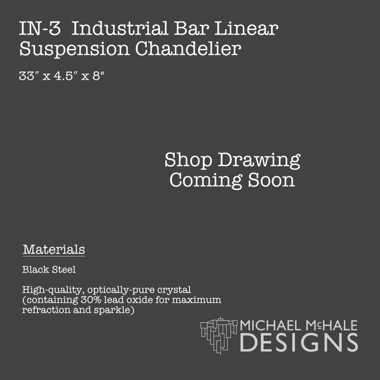 Industrial Bar Five-Light Chandelier Linear Suspension In New Condition For Sale In Long Island City, NY