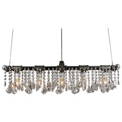 Industrial Bar Five-Light Chandelier Linear Suspension
