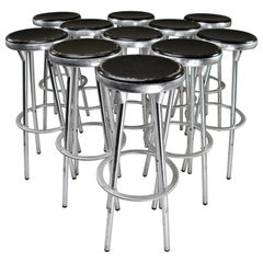 Industrial Bar Stools in Aluminum by Joan Casas Y Ortinez for Indecasa, Spain