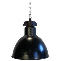 Industrial Bauhaus Black Enamel Pendant Lamp