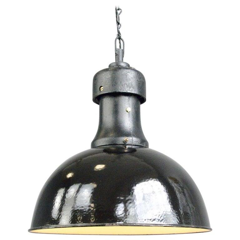 Industrial Bauhaus Light by AEG, Circa 1920s For Sale