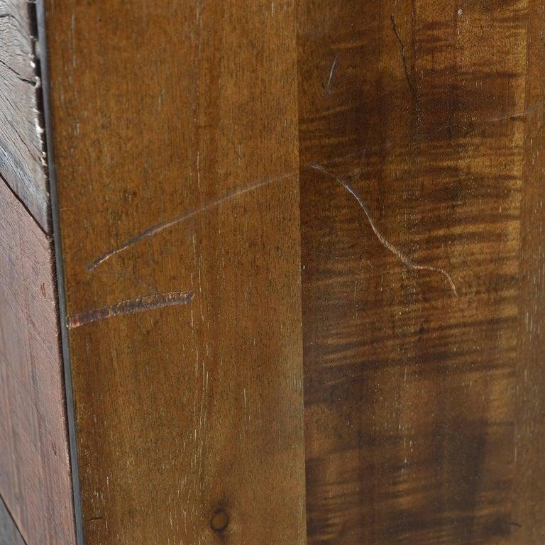 Hardwood Brutalist Industrial Armoire Dresser Cabinet by Rochdale Spears For Sale