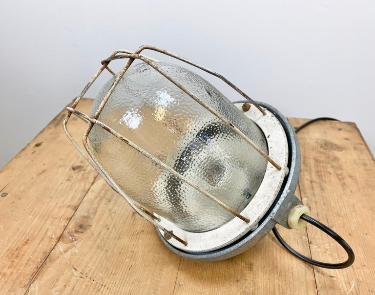 Industrial Bunker Lamp from Polam Gdansk, 1960s For Sale 3