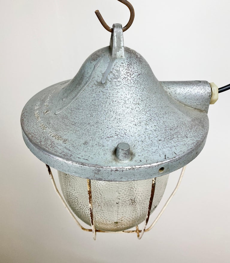 Polish Industrial Bunker Lamp from Polam Gdansk, 1960s For Sale