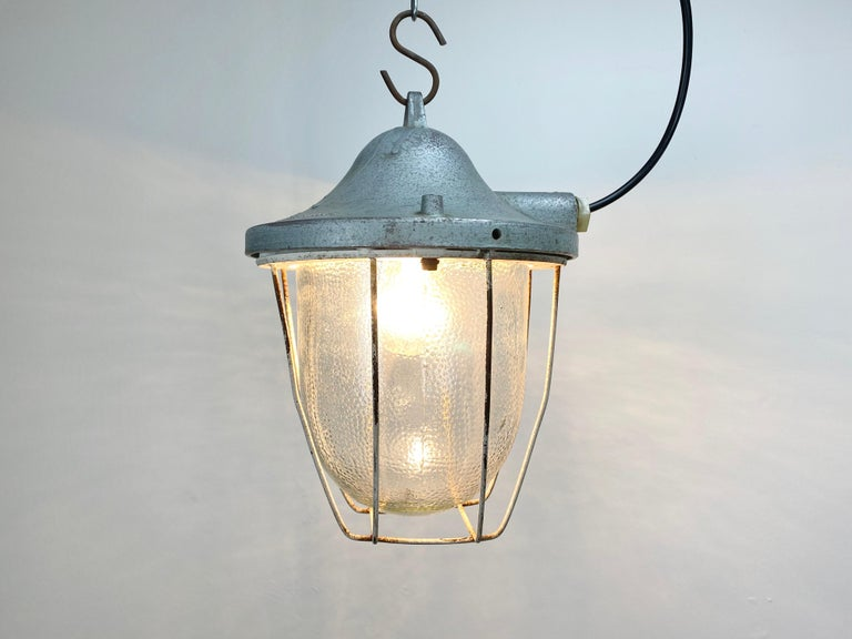 Mid-20th Century Industrial Bunker Lamp from Polam Gdansk, 1960s For Sale