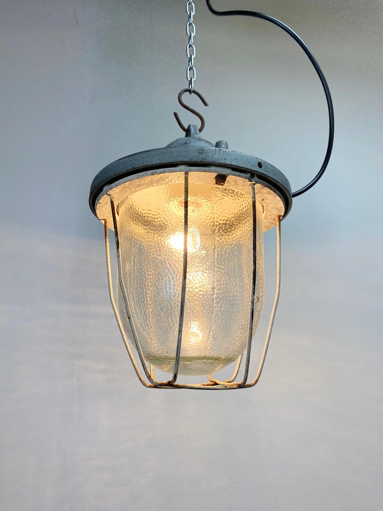 Aluminum Industrial Bunker Lamp from Polam Gdansk, 1960s For Sale
