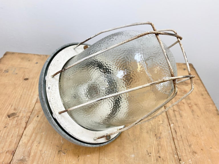 Industrial Bunker Lamp from Polam Gdansk, 1960s For Sale 1