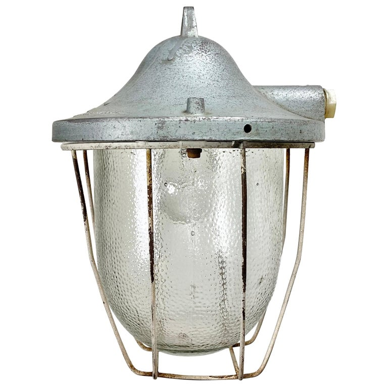 Industrial Bunker Lamp from Polam Gdansk, 1960s For Sale
