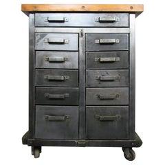 Industrial Butcher Block Cabinet
