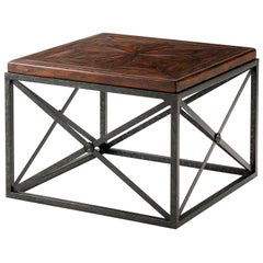 Industrial Campaign Cocktail Table