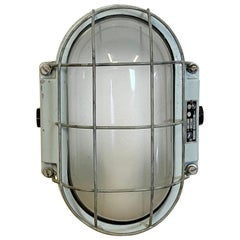 Industrial Cast Aluminium Wall Lamp from Elektrosvit, 1960s