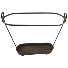 Industrial Cast Iron Cane Umbrella Stand by FISK Ironworks