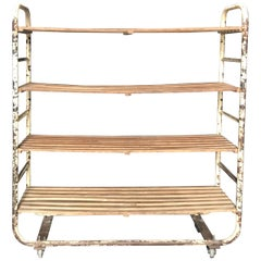 Industrial Chic French Bakers Rack Shelving Unit