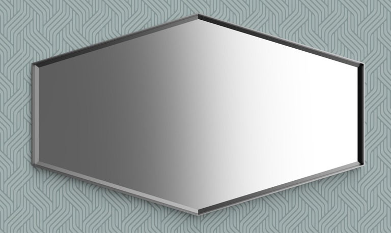 Industrial Chic Style Eros Hexagon Steel Mirrors with Plain or Antique Mirror In New Condition For Sale In London, GB