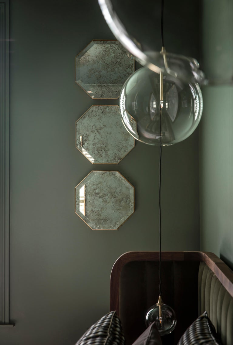 Industrial Chic Style Eros Octagonal Steel Mirrors With