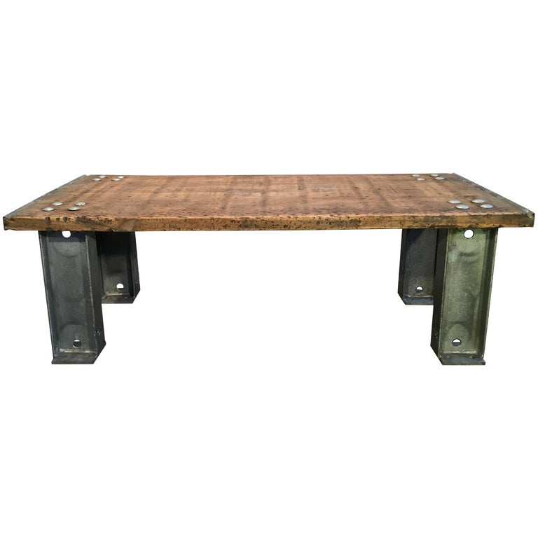 Industrial Coffee Table For Sale At 1stdibs