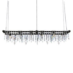 Industrial Crystal Pipe Banqueting Chandelier - Tribeca Collection