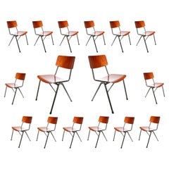 Industrial Design Eromes Pagholz Stacking Dining Chairs V-Shape Legs