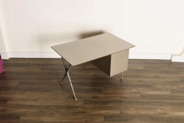 Industrial Desk by Raymond Loewy for Brunswick of Chicago, circa 1950s, Signed  3